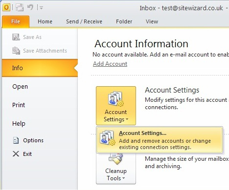 Outlook 2010 Beta Screen 1